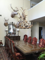 Real Antler Royal Crown Elk / Mule Deer Chandelier ElkMdCrwn