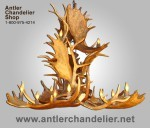 Real Antler Moose / Elk Cascade Chandelier MOSELKCASC