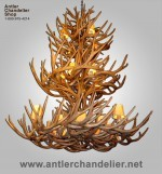 Reproduction Triple-Tier Mule Deer Chandelier CRL-32