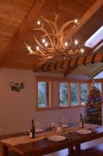 Real Antler Two-Tier Elk Chandelier ELKINVT-2