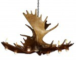 Our Pool Table Antler Chandeliers
