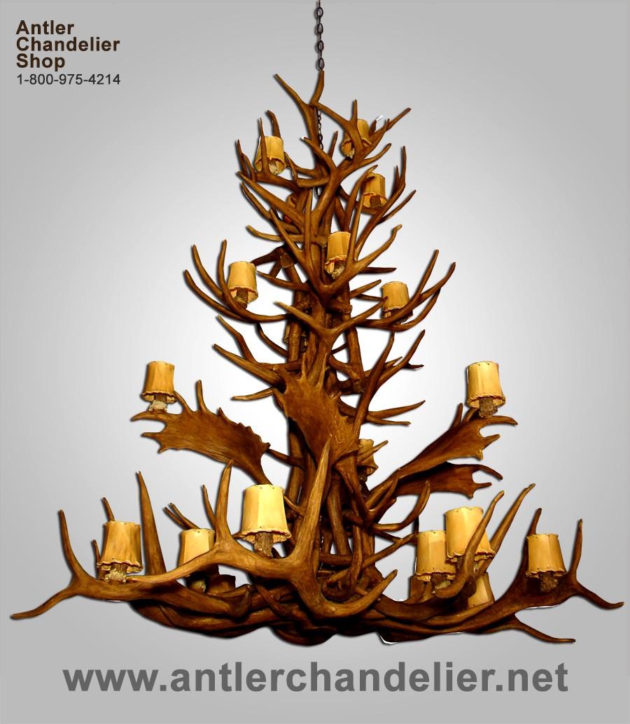 Xl antler chandeliers antler chandelier reproduction aspen chandelier crl 24 arubaitofo Gallery