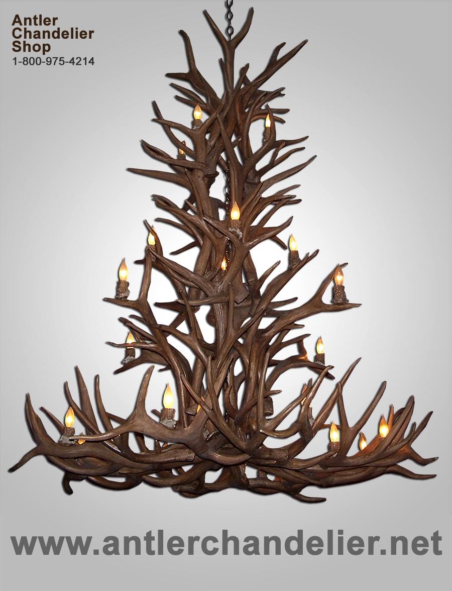 Xl antler chandeliers antler chandelier reproduction elk mule deer cascade chandelier crl 30 arubaitofo Gallery