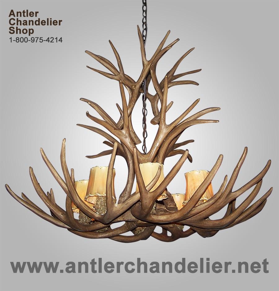 Large antler chandeliers antler chandelier reproduction mule deer chandelier crl 4 arubaitofo Gallery