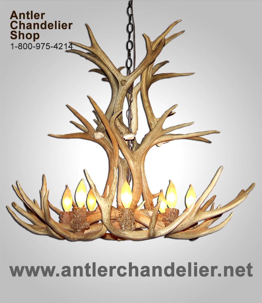 On sale today antler chandelier real antler mule deer cascade chandelier mdcascm 6 arubaitofo Images