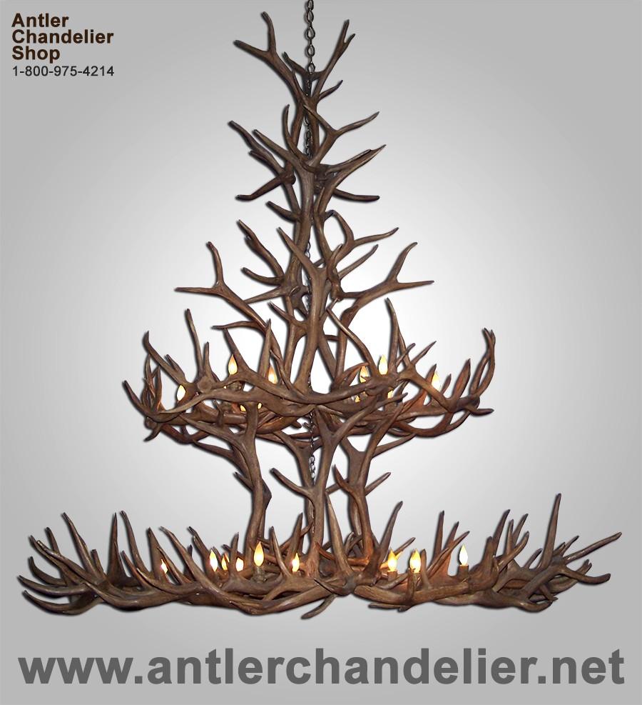Xl antler chandeliers antler chandelier reproduction custom king jewel chandelier reprokingjwl arubaitofo Gallery