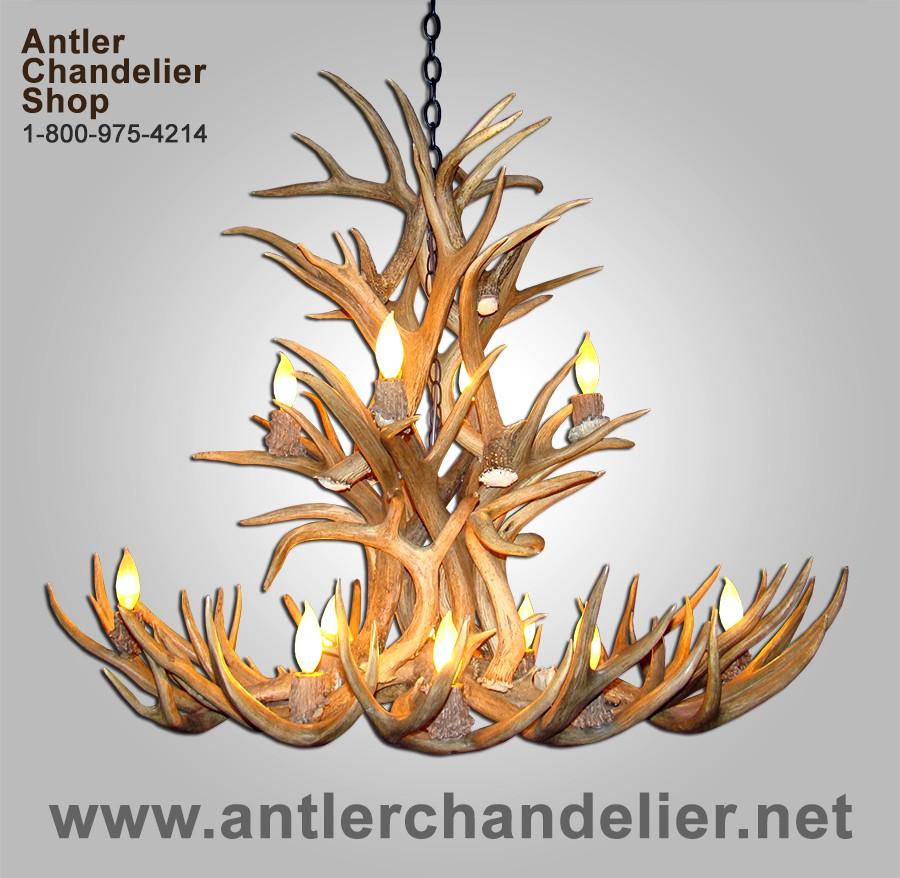 Real antler white tail mule deer cascade chandelier wtmd 1 real antler white tail mule deer cascade chandelier wtmd 1 aloadofball Images