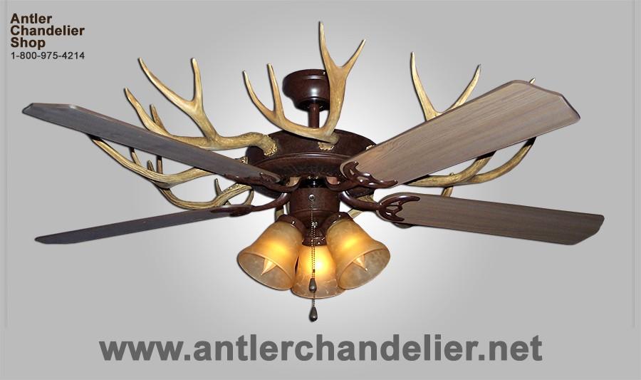Antler ceiling fans antler chandelier real antler white tail mule deer celing fan aloadofball Gallery