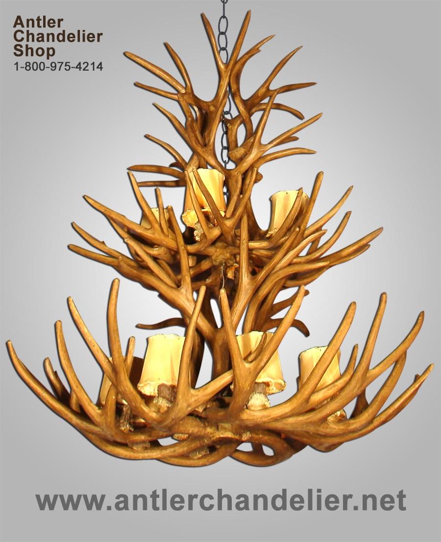 Large antler chandeliers antler chandelier reproduction 2 tier mule deer antler chandelier crl 10 arubaitofo Gallery